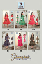 GHUNGROO VOL.1- GOLD PRINT RAYON KURTI ( SET OF 6) Georgette Kurtis catalogue