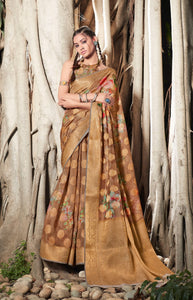 SHANAYA DIGITAL-  SILK SAREE WITH DIGITAL PRINT ( SET OF 6)