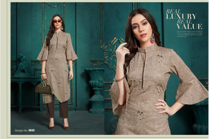 BLAZE- COTTON KURTI( 6 DESIGNS PER SIZE)