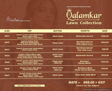 Qalamkar Lawn Collection  catalogue