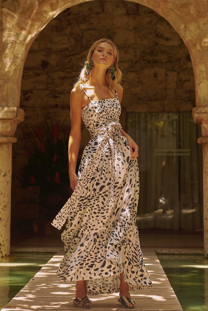 Animal Print Maxi Dress Kala