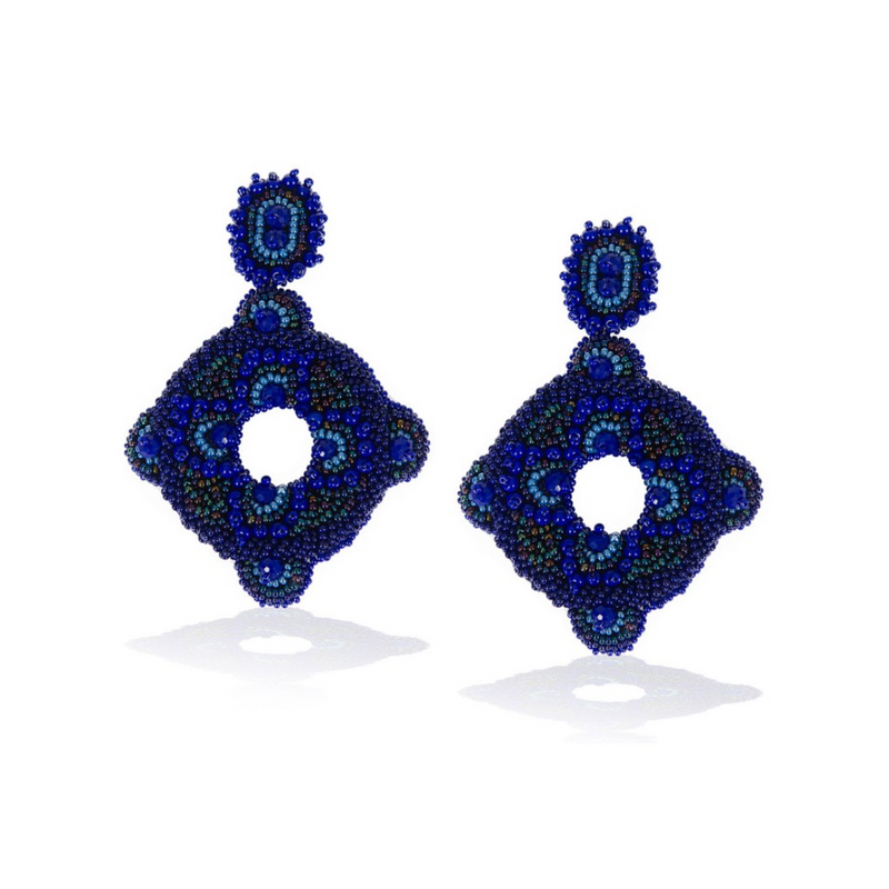 Handcrafted Beaded Earrings Frida