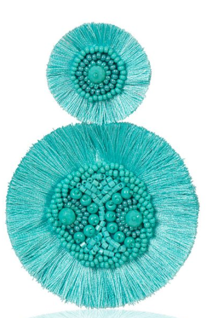 Silk Fringe Tassel Earrings Marylin