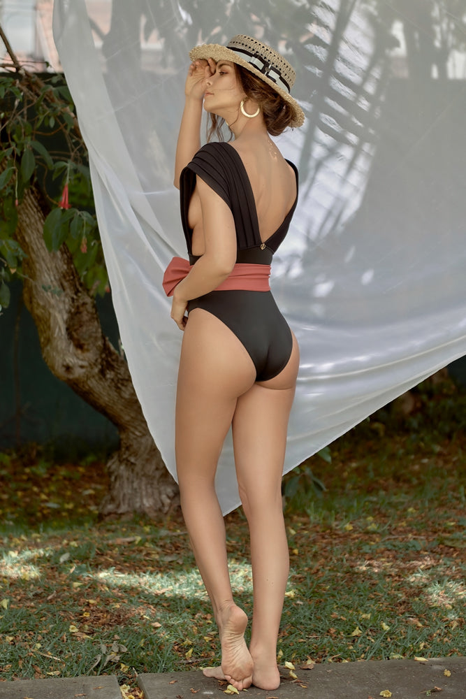 Black One Piece Swimsuit Caroline