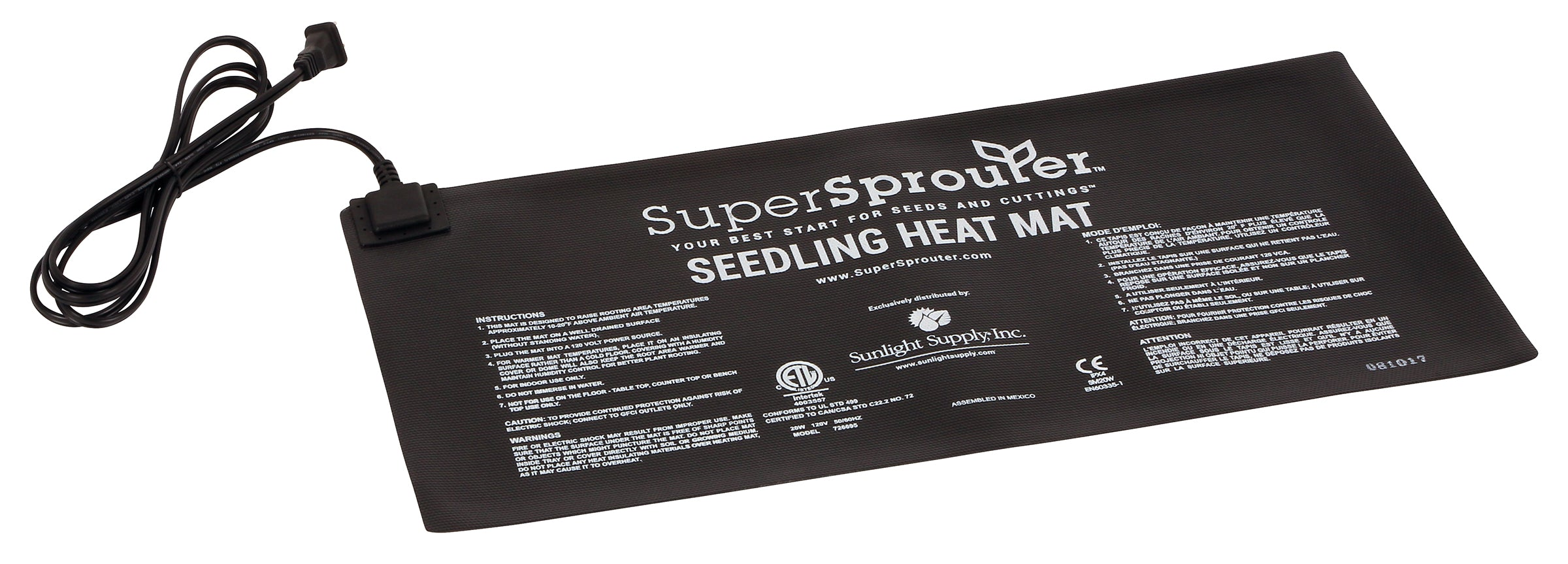 Super Sprouter Seedling Heat Mat 10 in x 21 in