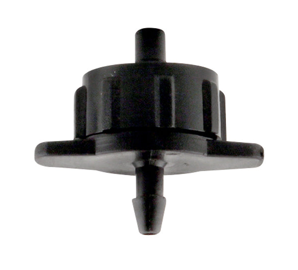 Hydro Flow Regulated Push-In Button Emitter Black 1 GPH