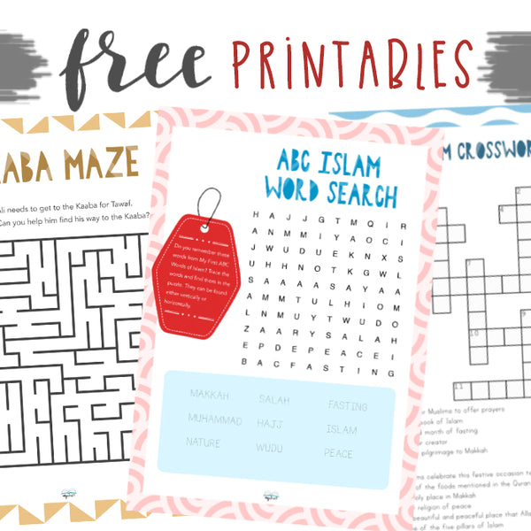 My First ABC Words of Islam Puzzles -Printable PDF