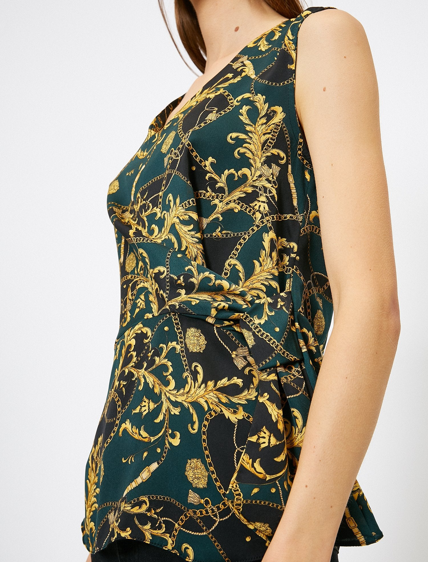 WOMEN BLOUSES DEEP GREEN