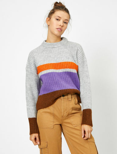 Striped Sailor Sweater in Gray