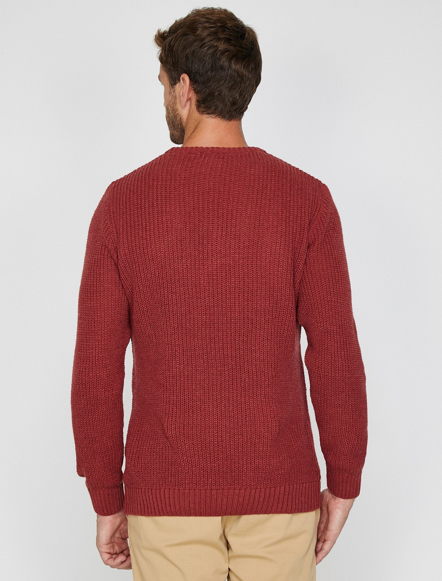Crew Neck Sailor Sweater in Red Clay