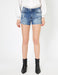 Destructed Denim Shorts in Indigo
