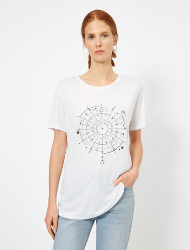 Graphic Long Tshirt in White
