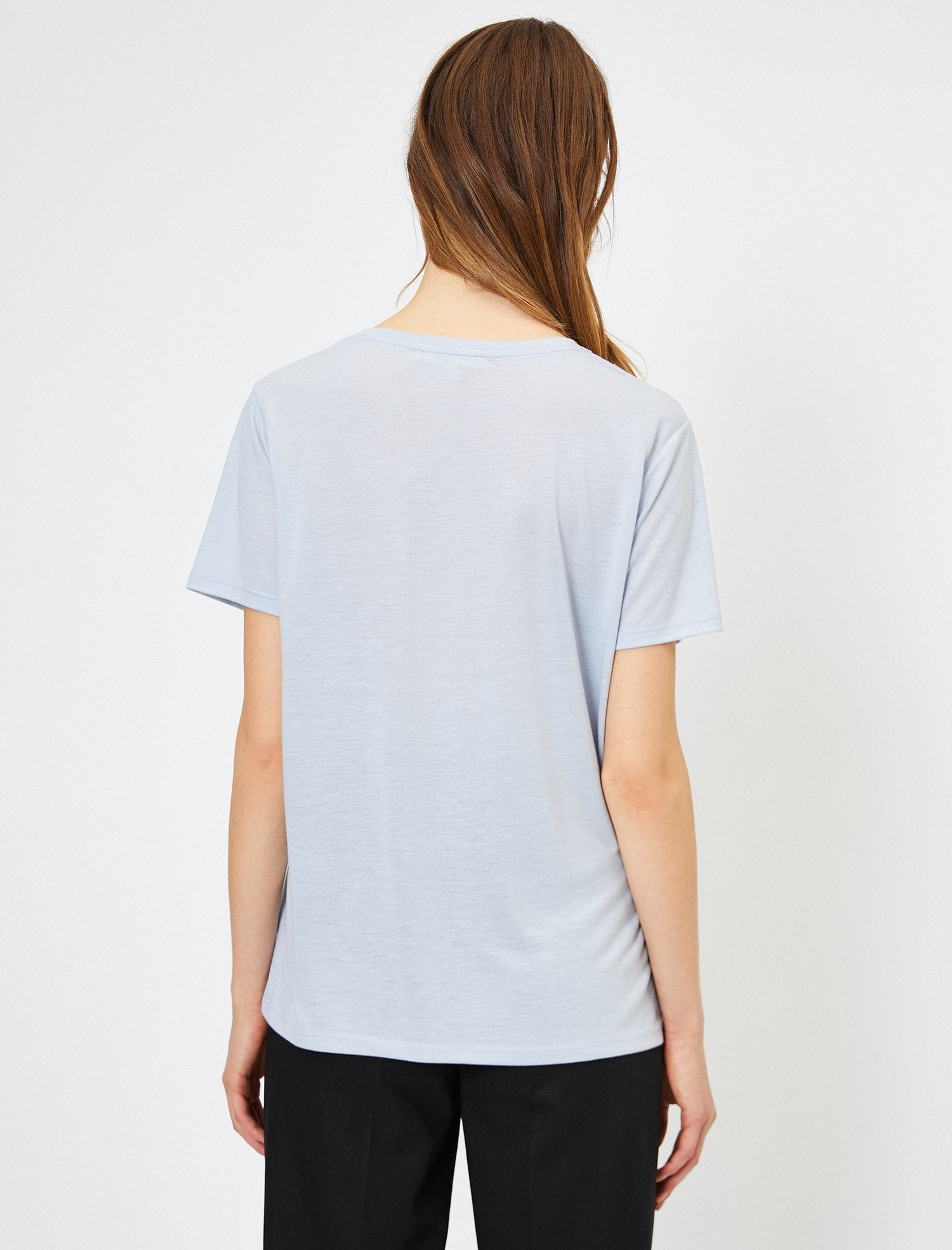 Graphic Long Tshirt in Light Blue