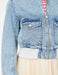 Cropped Utility Denim Jacket in Light Blue