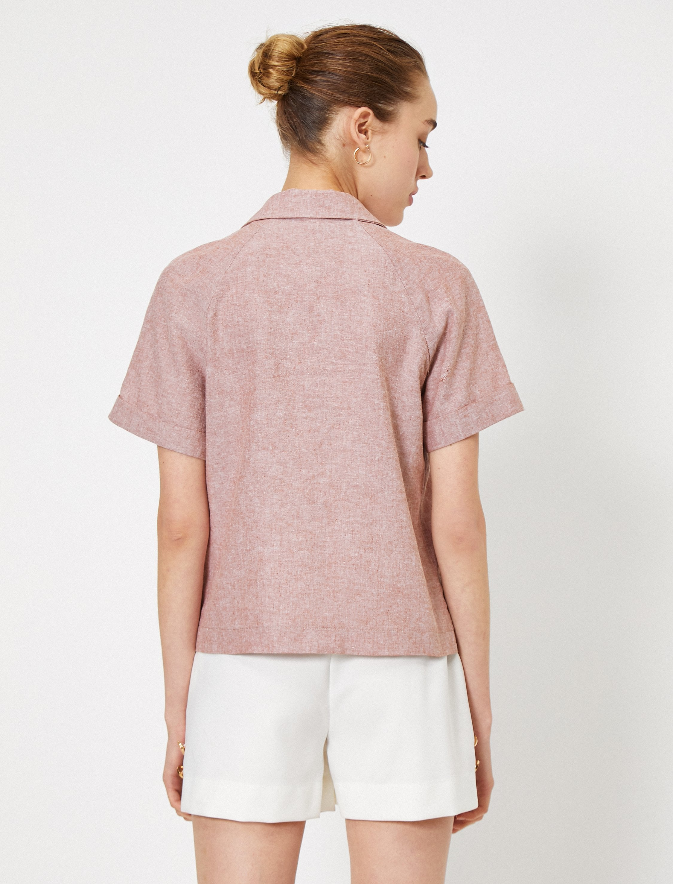 Utility Short Sleeve Shirt in Clay