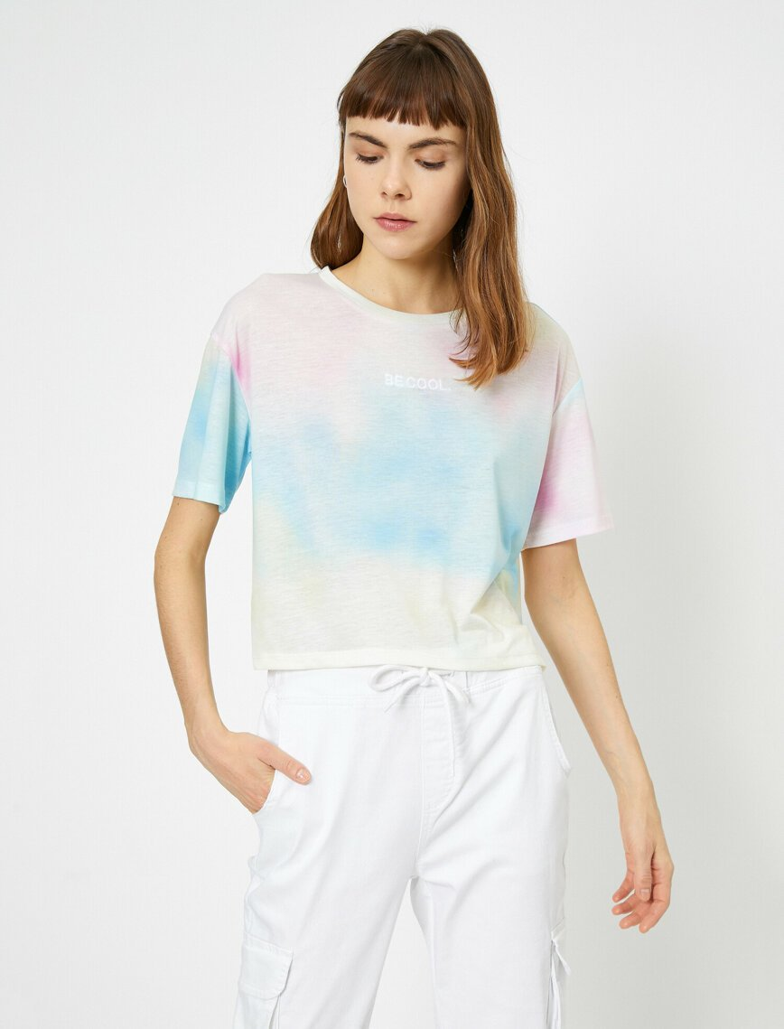 Tie Dye Printed Tshirt in Blue