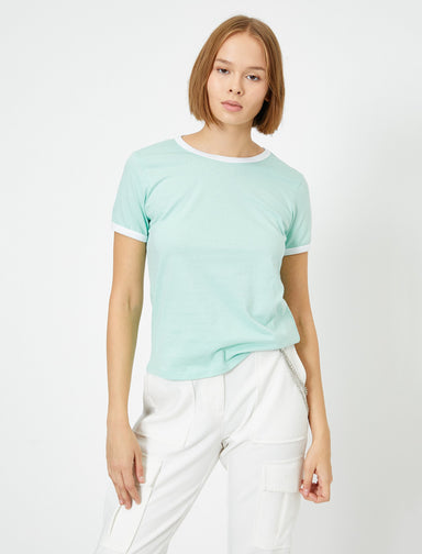 Ringer Tshirt in Mint