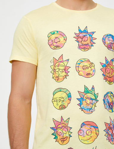 Ricky and Morty Graphic Tshirt in Yellow