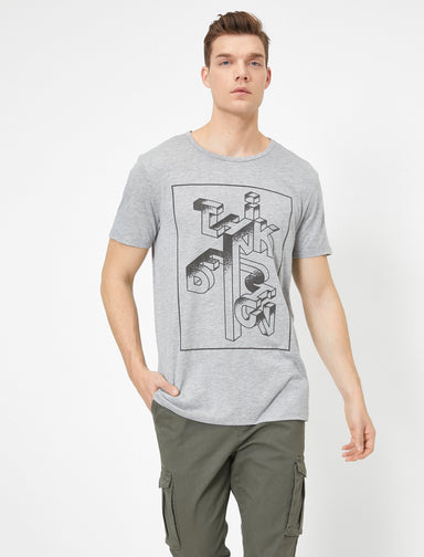 Graphic Tshirt in Heather Gray