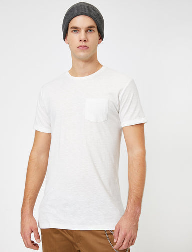 Slubbed Basic Tshirt in White