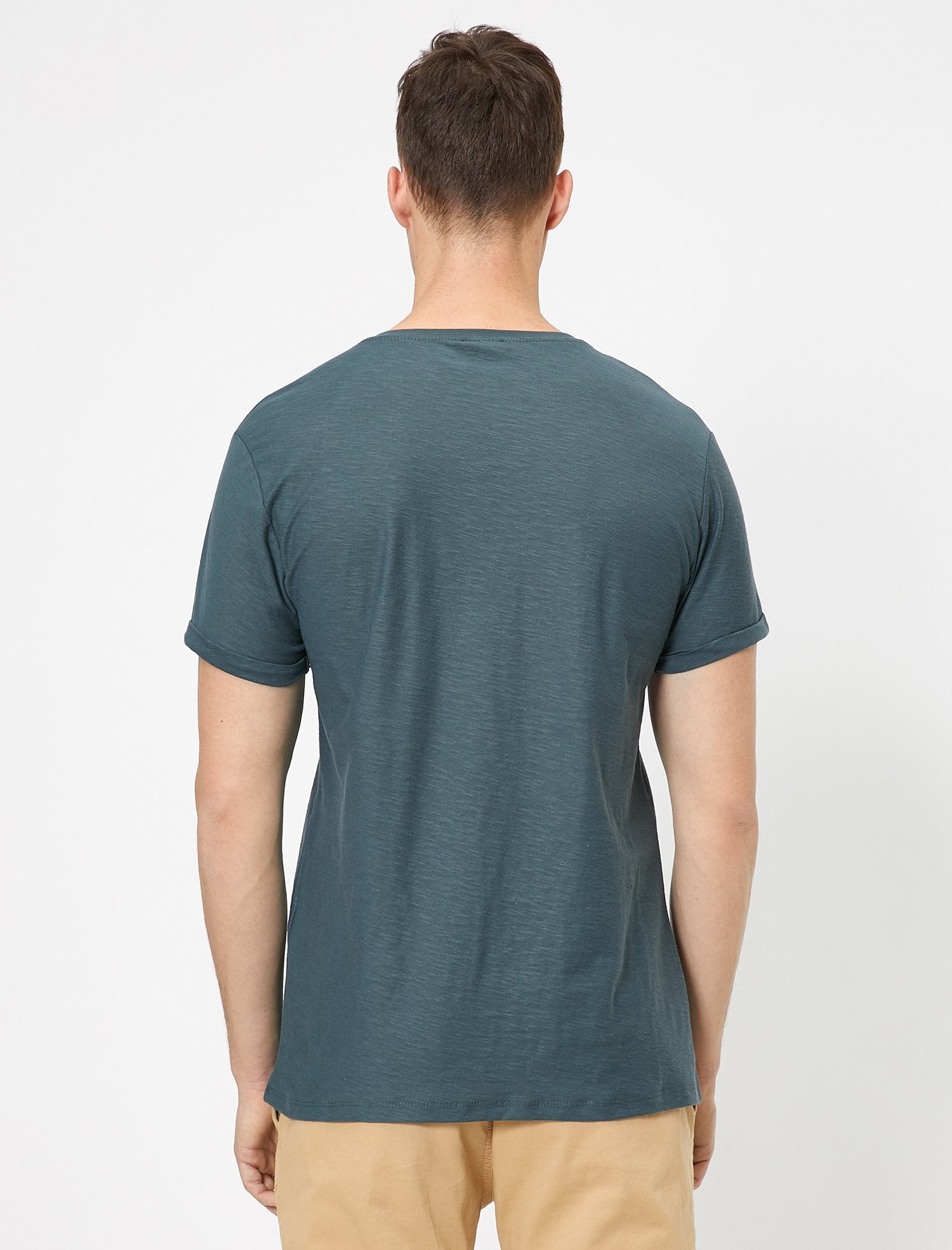 Slubbed Basic Tshirt in Anthracite