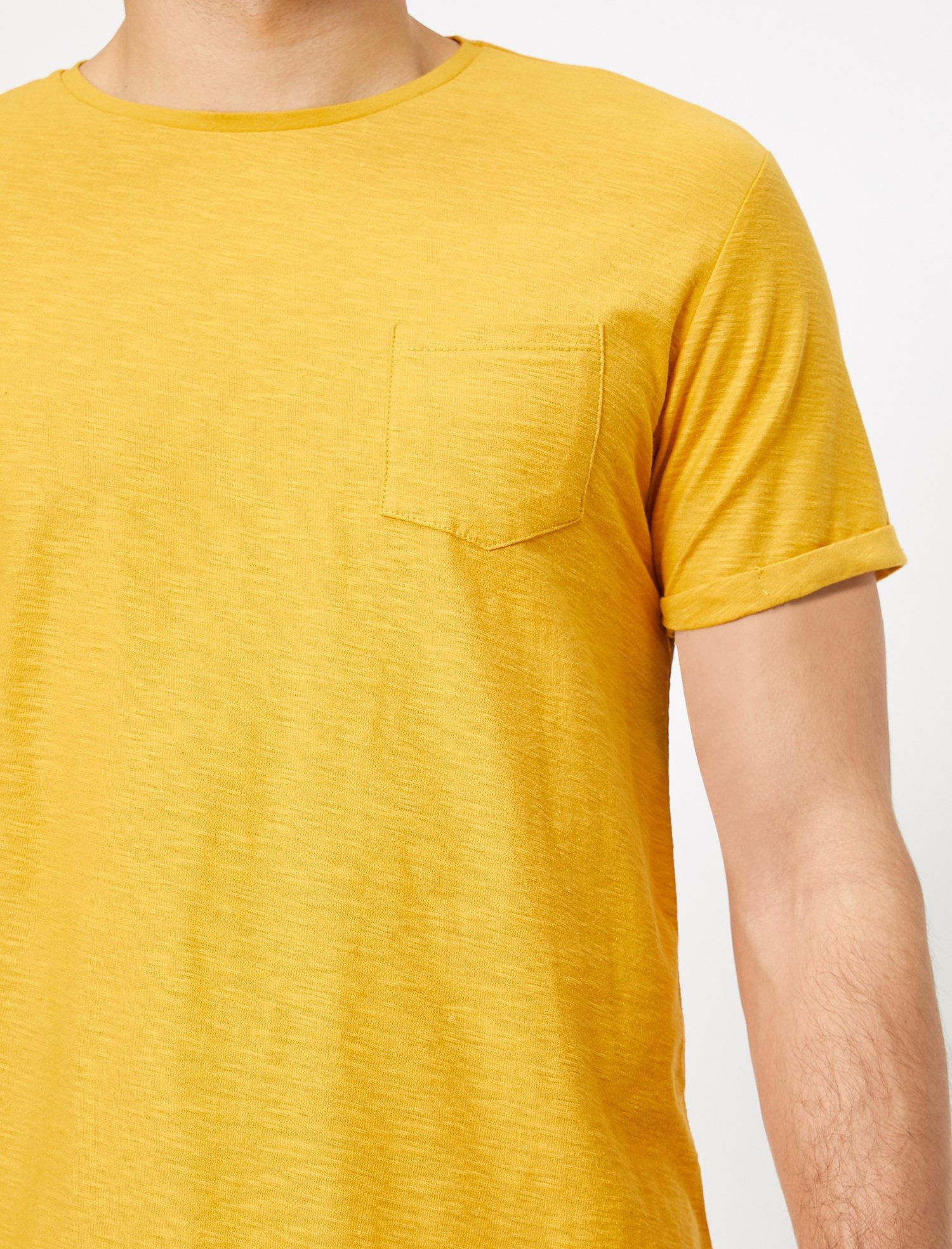 Slubbed Basic Tshirt in Mustard