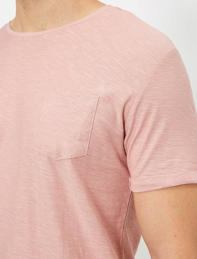 Slubbed Basic Tshirt in Rose