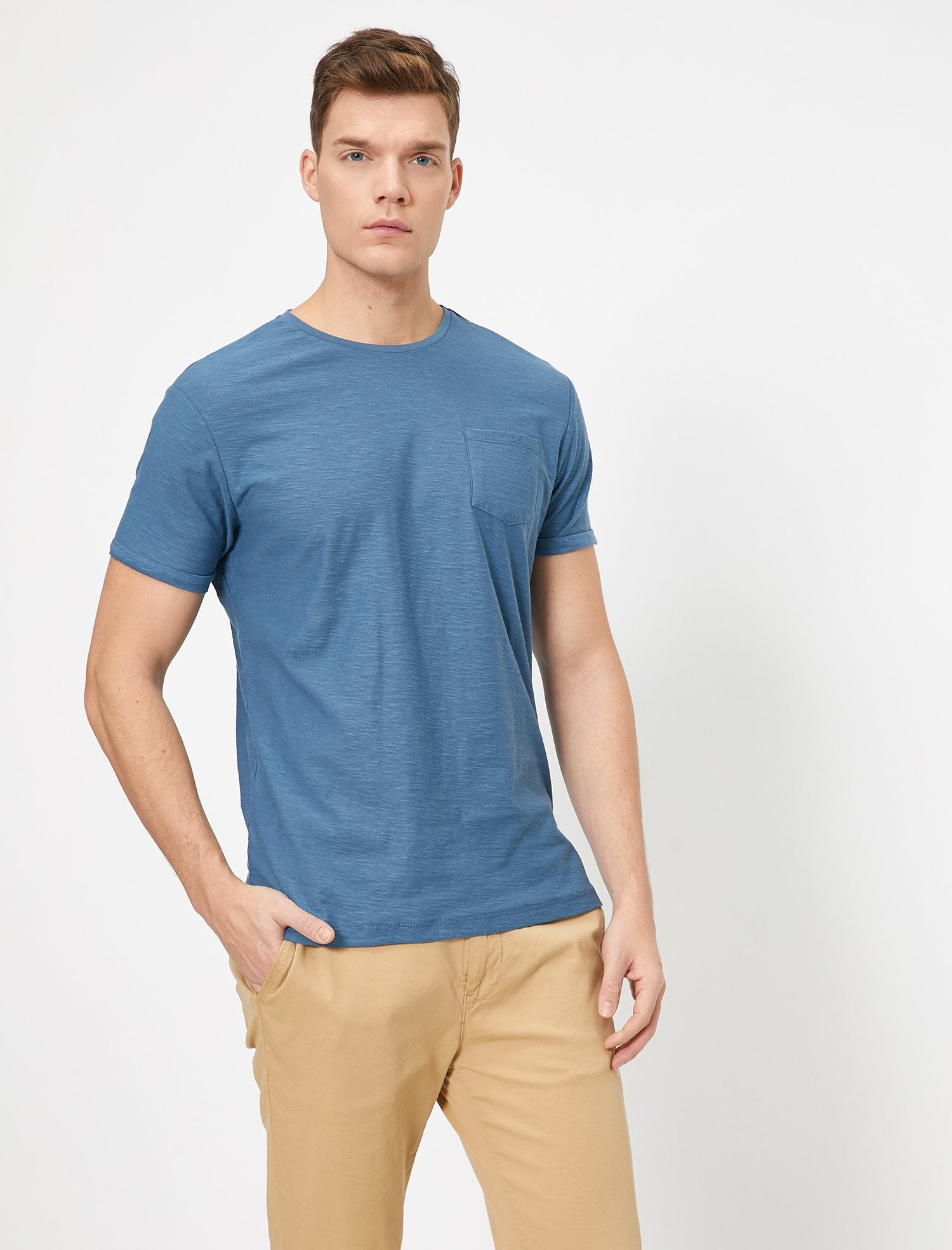 Slubbed Basic Tshirt in Indigo