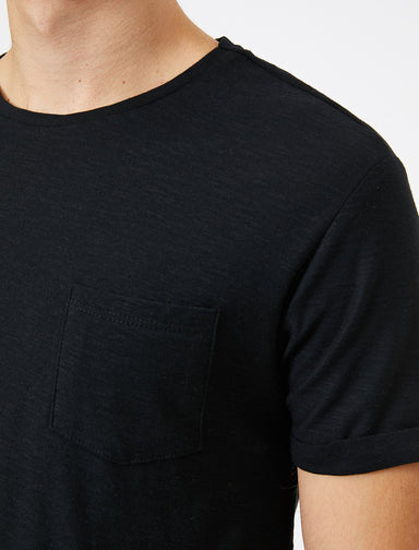 Slubbed Basic Tshirt in Black