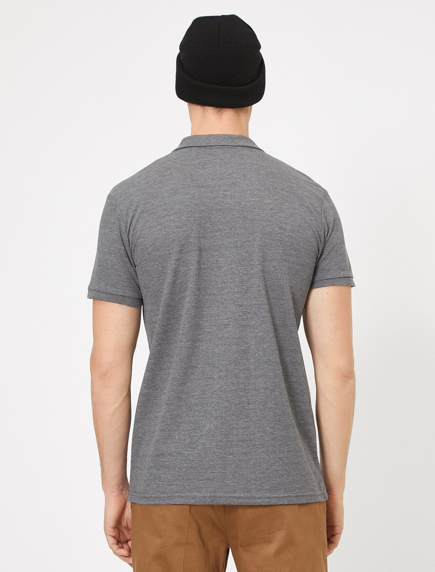 Pique Polo Shirt in Heather Gray