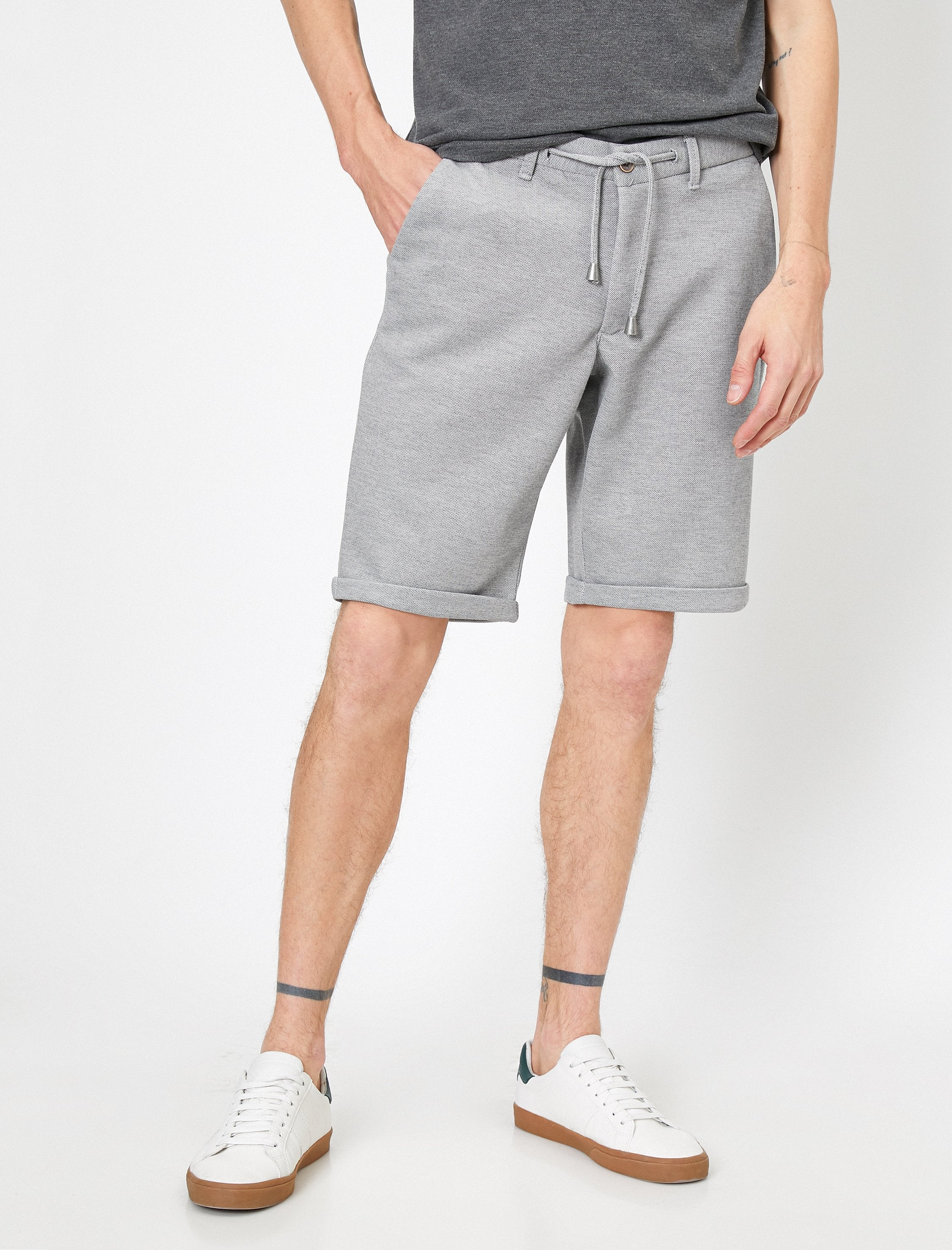 Chambray Shorts in Gray