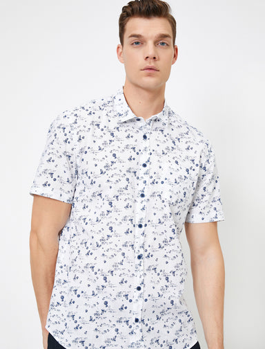 Printed SS Shirt in White