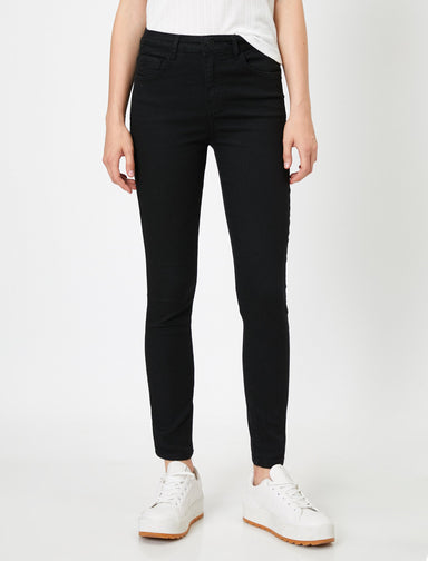 High-Rise Skinny in Black