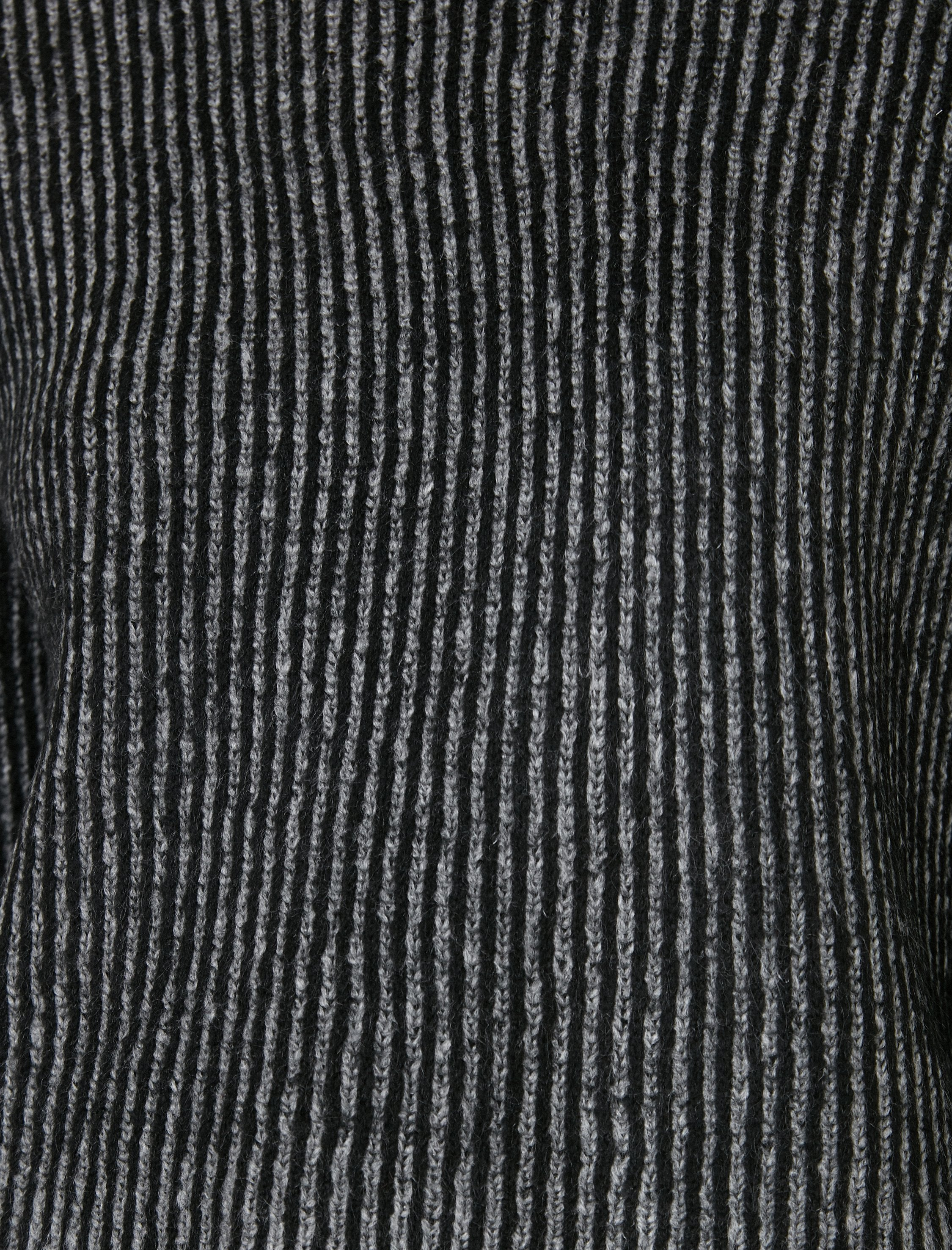Cropped Sailors Sweater in Charcoal