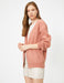 Short Oversize Cardigan in Pink