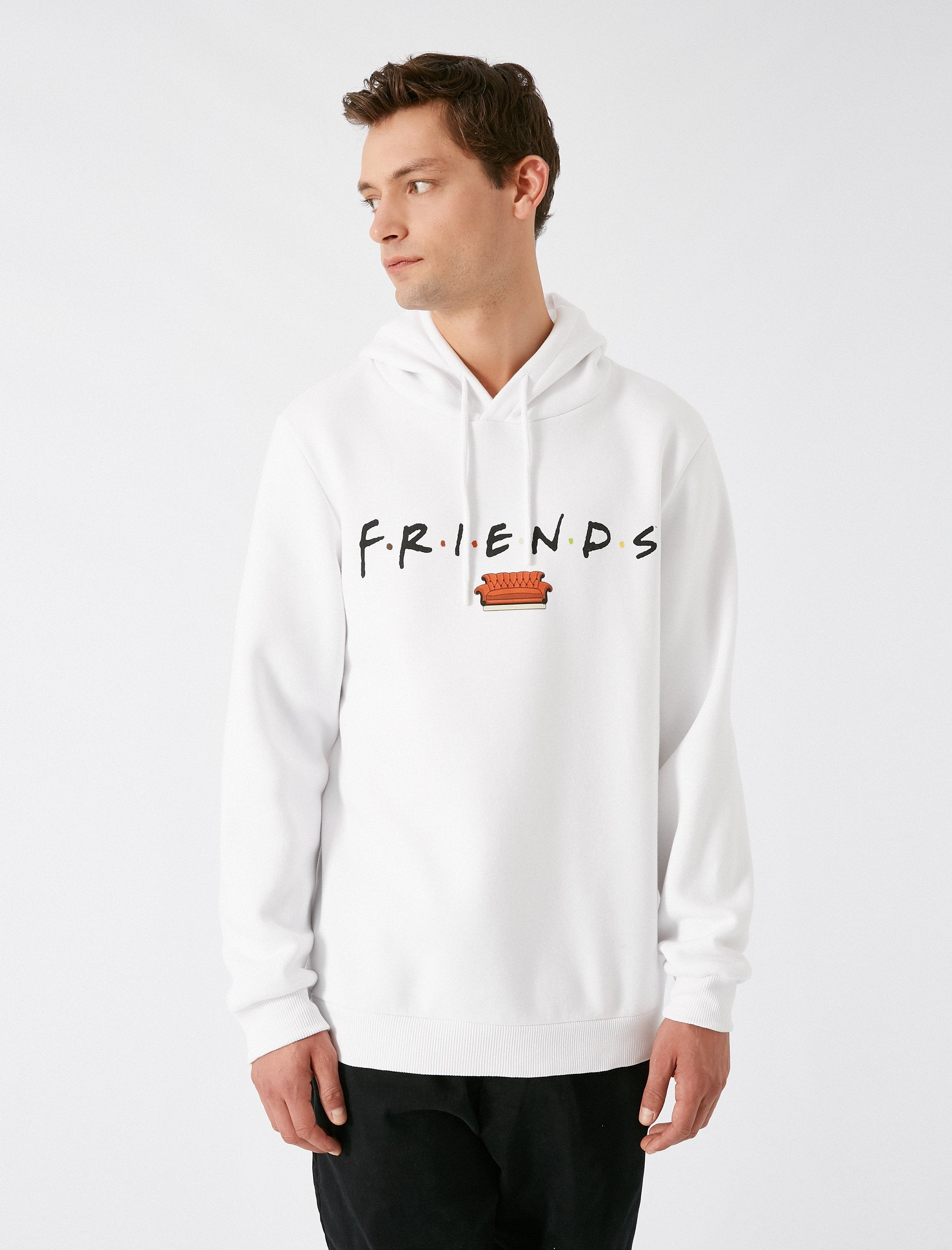 Friends Hoodie in White