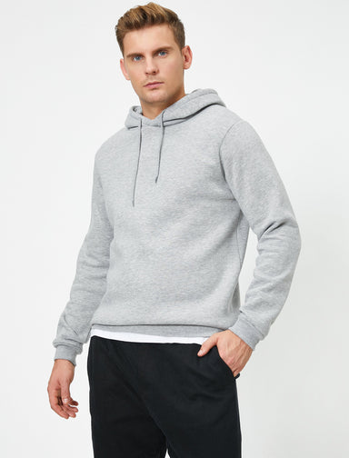 Basic Hoodie in Heather Gray