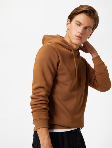 Basic Hoodie in Heather Camel