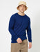 Basic Crew Neck Sweater in Cobalt Blue