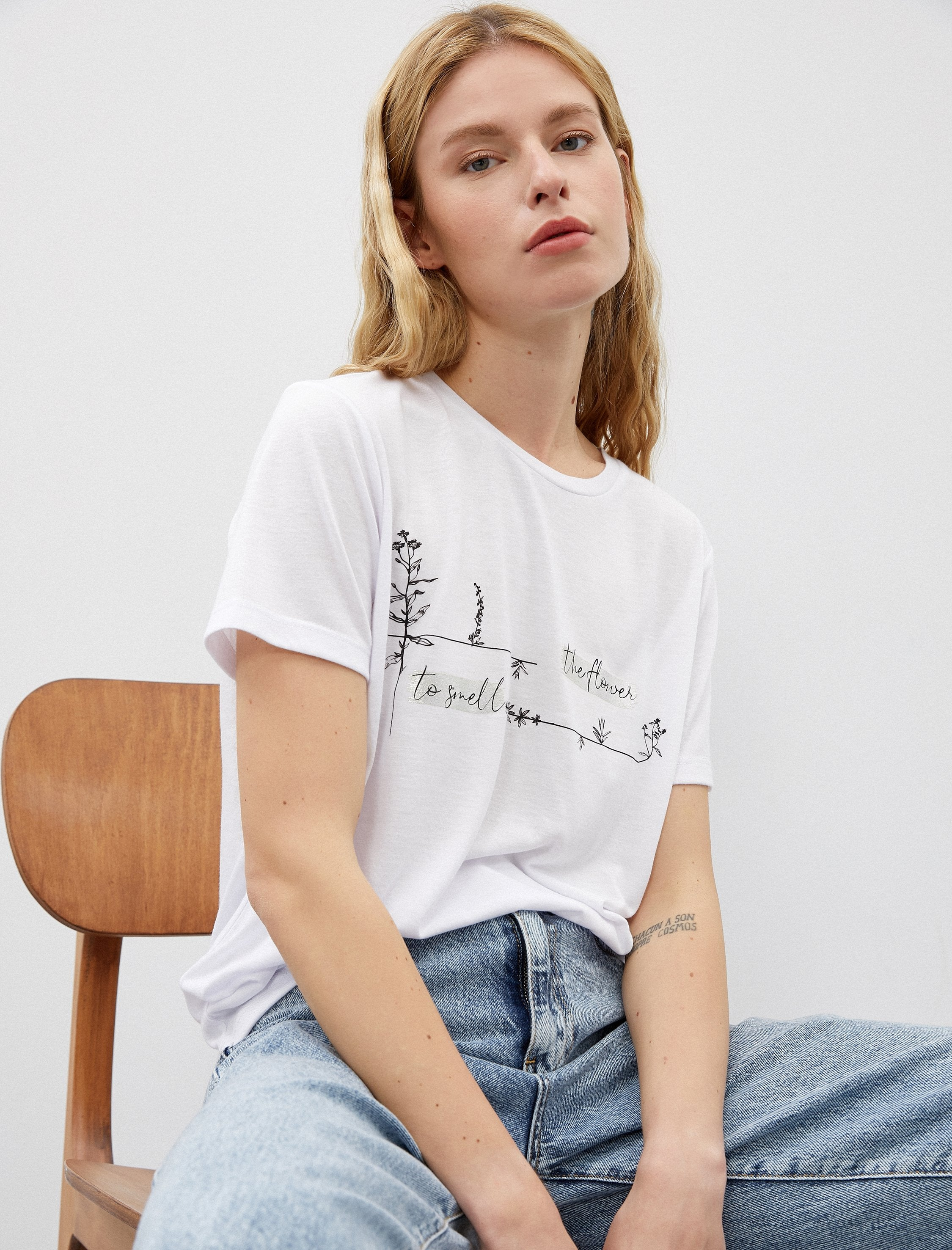 The Plants Graphic Tshirt in White