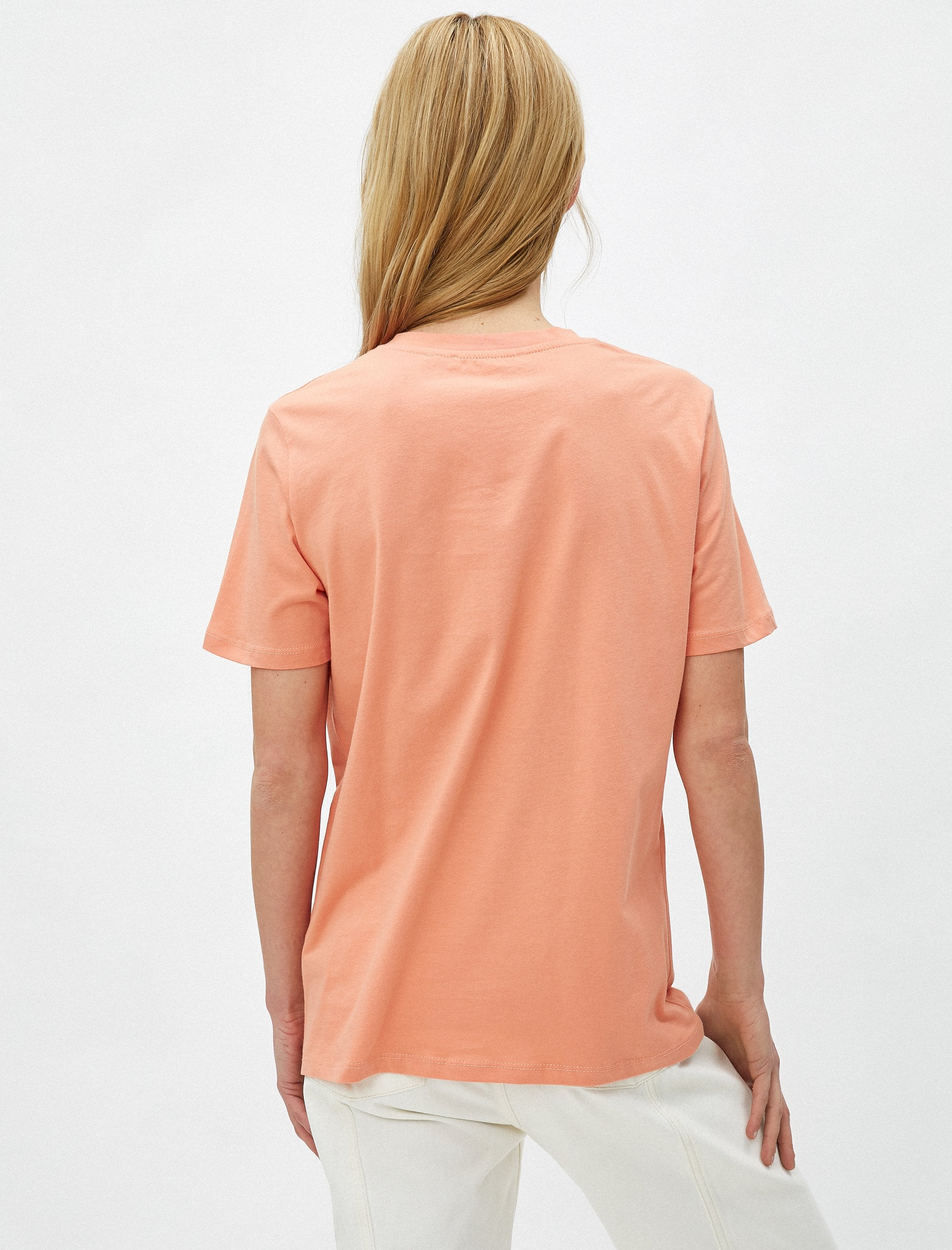 Mystery Woman Portrait Tshirt in Apricot