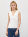 Sleeveless V-Neck Blouse in White
