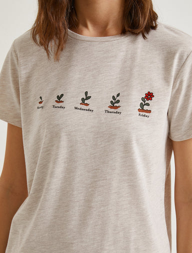 Plants Graphic Tshirt in Heather Brown
