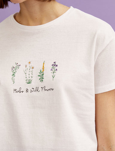Wildflower Graphic Tshirt in White