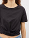 Crop Knot Tee in Black