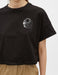 Cropped Eclipse Graphic Tshirt in Black
