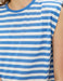Striped Padded Muscle Tshirt in Blue