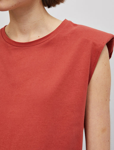 Padded Muscle Tshirt in Salmon