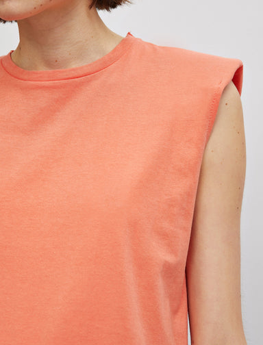 Padded Muscle Tshirt in Coral