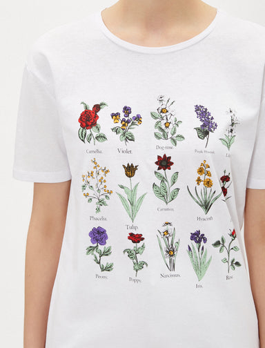 Botanical Graphic Tshirt in White